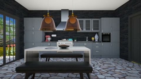Dark Arts Kitchen - Modern - Kitchen  - by 3rdfloor