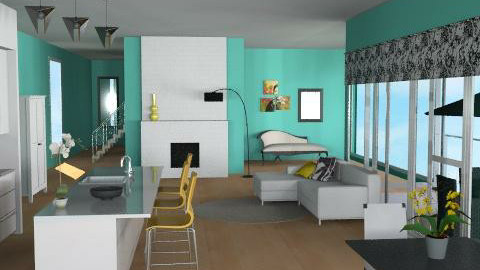Serene - Eclectic - Living room  - by channing4