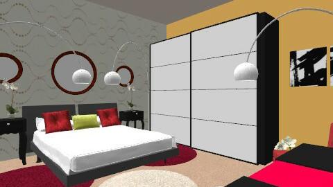 1960's bungalow - Retro - Bedroom  - by sophielianne