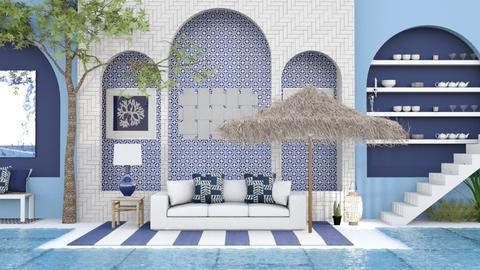 Bleu poolside - by hmm22
