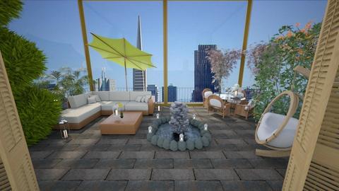Rooftop Escapade - Garden - by Loren17