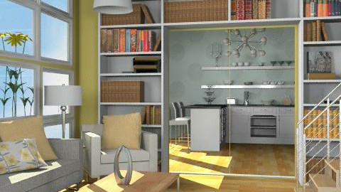 Yellow and Blue Rooms - Classic - Living room  - by reedj0218
