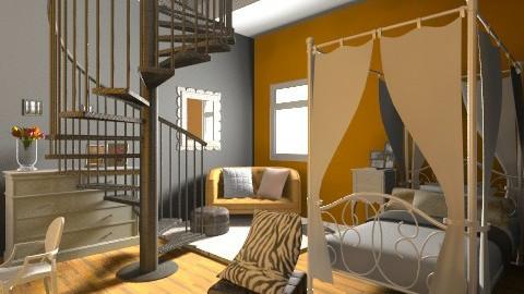 the dream room - Retro - Bedroom  - by adiengaluh