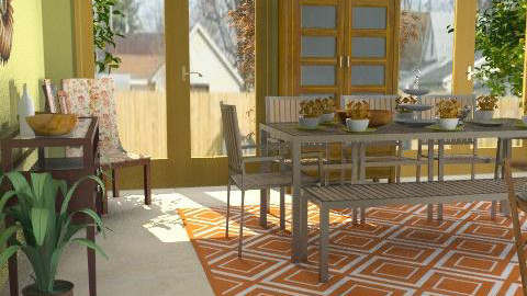 Orange County Dining - Retro - Dining room  - by natural11