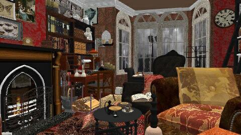 Baker St study - Vintage - Living room  - by katmills98