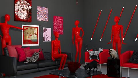 Club Red Design 3 - Living room  - by kyle__bug757