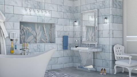 M_Elegant marble bathroom - Bathroom  - by milyca8