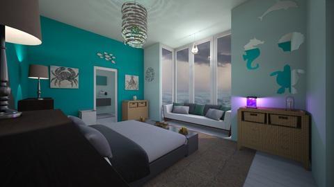 Stormy Bedroom - Bedroom  - by b sharp