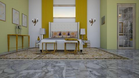 danii bedroom  curtain go - Classic - Bedroom - by decordiva1