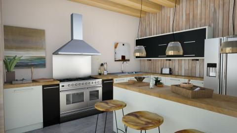 Modern Zen Kitchen - Rustic - Kitchen  - by cervidaeus