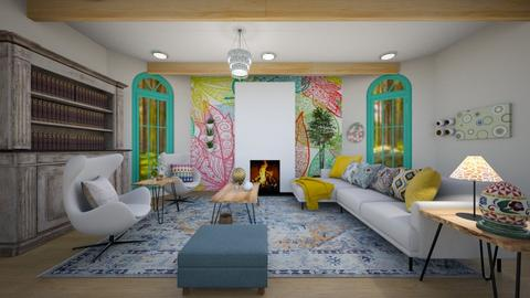Decorated for Easter - Living room  - by Feeny
