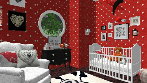 sweet kisses nursery 2 - Classic - Kids room - by barbasiewicz_agnieszka