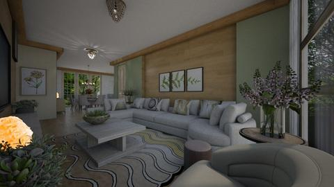 Pastry e  Green - Living room  - by Maria Helena_215