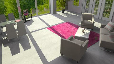 Pink flat - Glamour - Living room  - by Uzs87