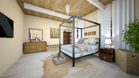 Neutral bedroom  - Rustic - Bedroom  - by UloveTashi Designs