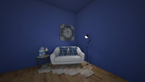 Cozy Navy Corner - Living room  - by deleted_1607101522_runner121
