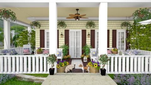 Victorian  Porch Exterior - Garden - by lydiaenderlebell