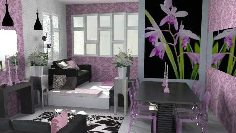 orchid1c - Glamour - Living room  - by catcarla