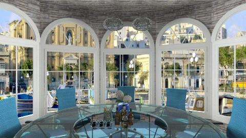 blue meeting corner - Office - by ANAAPRIL
