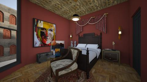 new york luxury hotel - Bedroom  - by Sabine Mason