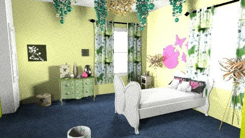 Butterfly Bedroom full  - Kids room - by hope160