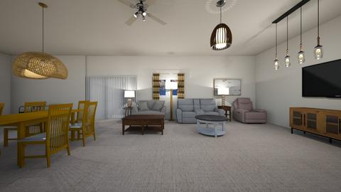 San Diego Condo 02 - Living room  - by mspence03
