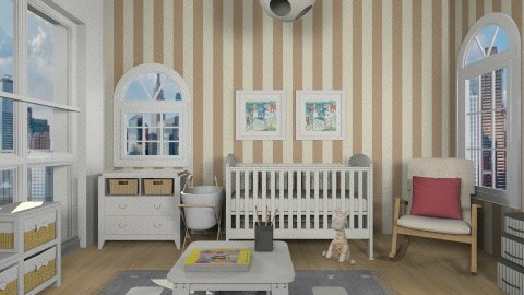comfort city baby room - Vintage - Kids room - by vesperart