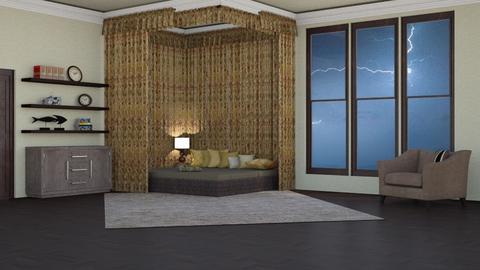 stromy day bedroom - Bedroom  - by nat mi