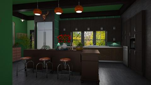 Rusty Emerald - Kitchen - by timeandplace