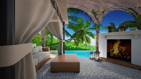 Tropical Rainforest Patio - Modern - Garden  - by Irishrose58