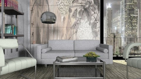 Gray - Minimal - Living room  - by milyca8