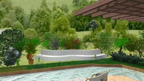 House with swimming pool - Classic - Garden  - by milyca8