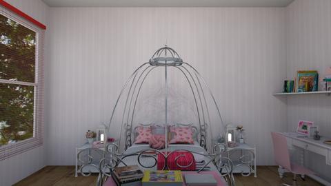 habitacion rosa para nena - Bedroom  - by clasesytutorias