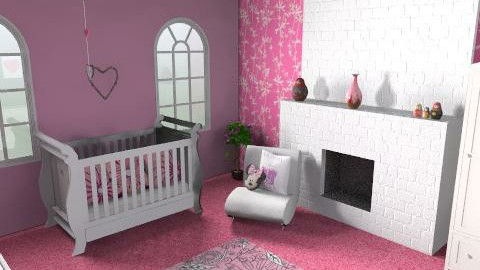 Pink Nursery - Modern - Kids room - by LaurenH92