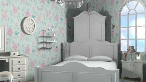 white bedroom - Rustic - Bedroom  - by milyca8