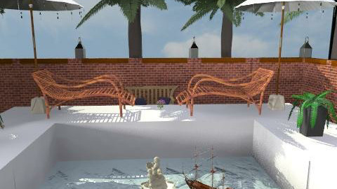 Outdoor waterpool and palms - Modern - Garden  - by Irena_S