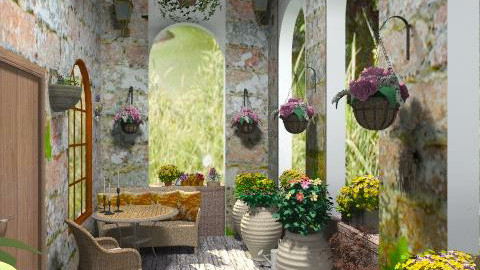 old balcony - Garden  - by janetski2