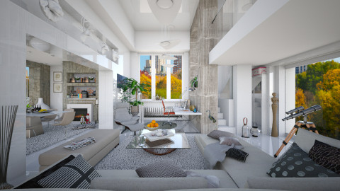 Walls in NYC II  - Modern - Living room  - by Ida Dzanovic