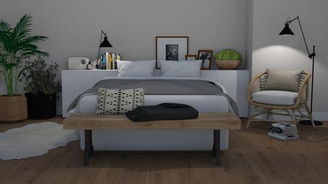 Scandi boho - Bedroom  - by Tuija