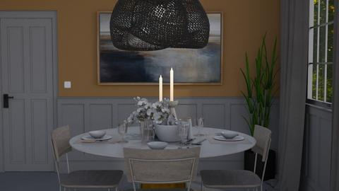 Ochre and grey - Modern - Dining room  - by HenkRetro1960