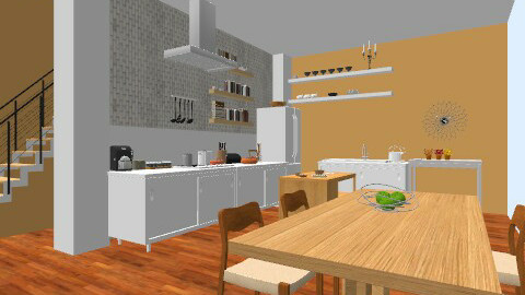 Simple Dining - Minimal - Kitchen  - by tghollywood