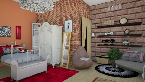 Yeepy Hippi Room  - Bedroom  - by xmlna