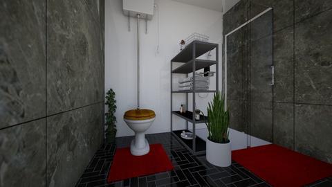 Dark theme Bathroom - Modern - Bathroom  - by Dr Skerman