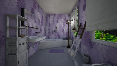 lavender bathroom - Bathroom - by loisep1999