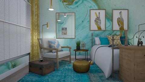 foreign escape - Bedroom - by GraceRoomstyler