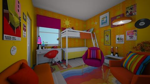 Groovy 70s - Retro - Bedroom  - by Sophia Cooper
