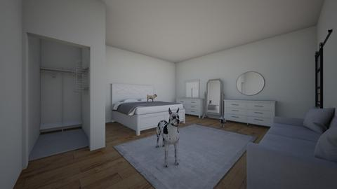 White themed room - Bedroom - by HannahDesgins
