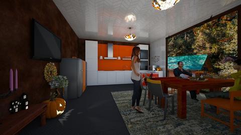 Modern Farm Kitchen - Kitchen  - by BoilinsIslesDesigns