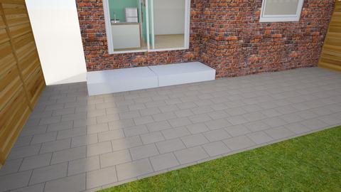 Back patio brick steps - Garden - by kadzie