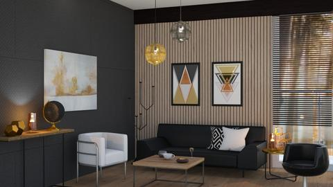 Black and brass - Living room  - by Snowbell